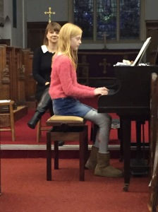 Charlie, 11, plays her own composition 'Whirlpool'