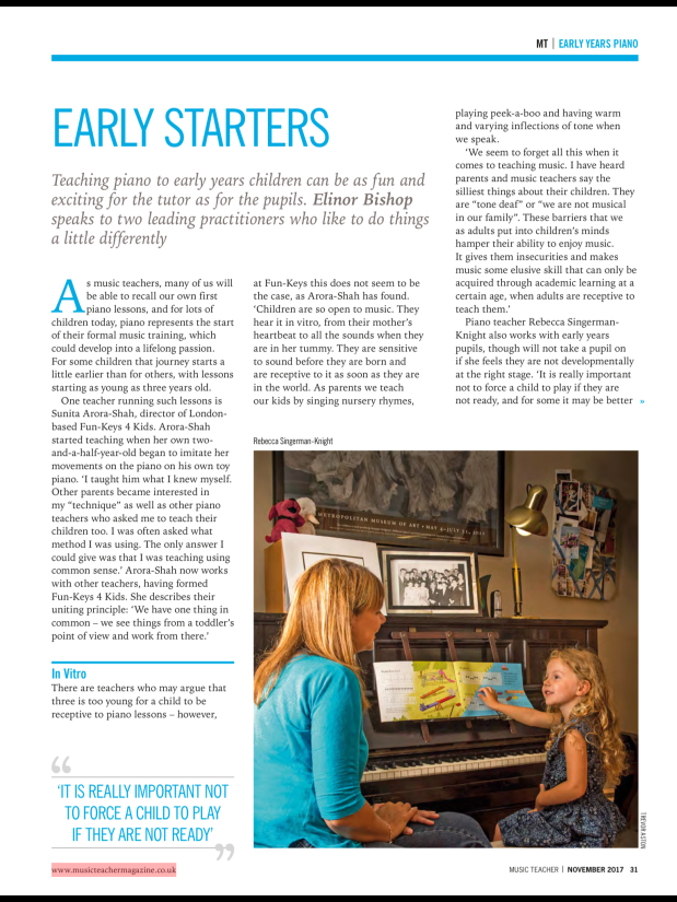 Feature in Music TeacherMagazine